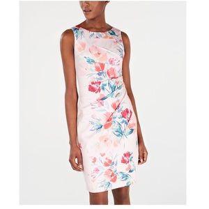 🆕 NWT Calvin Klein floral starburst sheath dress